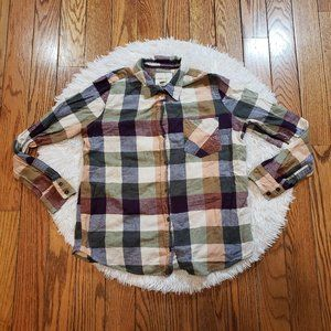 Forever 21 Women's Plaid Button Down Top